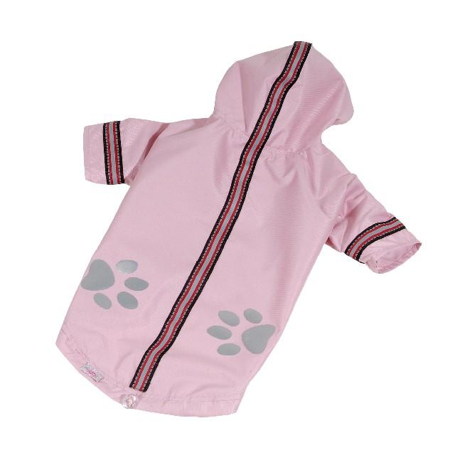 Bunda lehká šusťáková pro psa reflexní, růžová, S