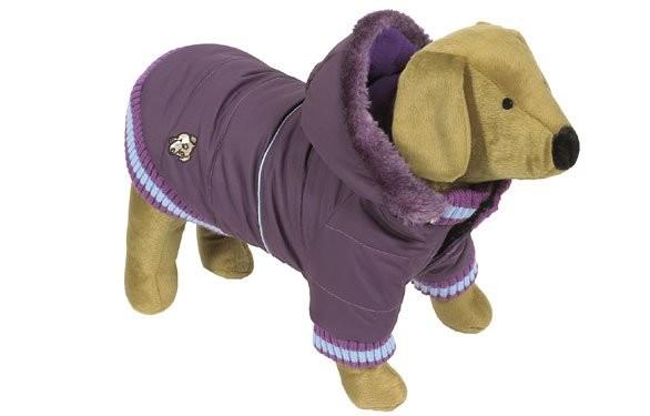 Bunda zimní pro psy Dandy S fialová