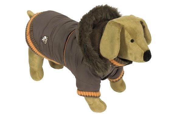 Bunda zimní pro psy Dandy S Hnědá