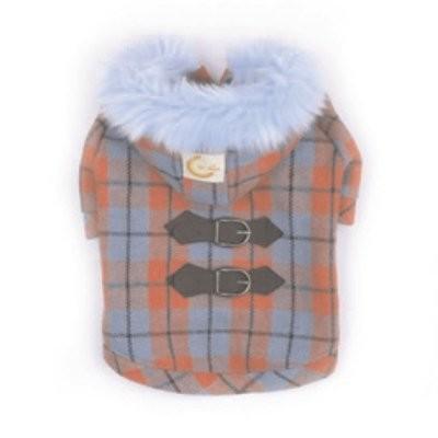 Kostkovaný kabátek s kapucí vel.S