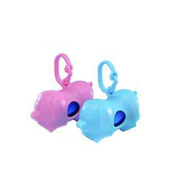 Nobby pouzdro na sáčky na exkrementy - modré prasátko
