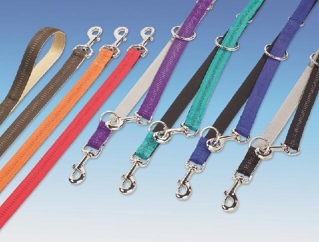 Nylonové přepínací vodítko pro psa - délka 200cm, šířka 10mm tyrkysová