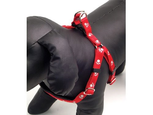 Reflexní postroj pro psy Soft Protection - barva červená vel. S